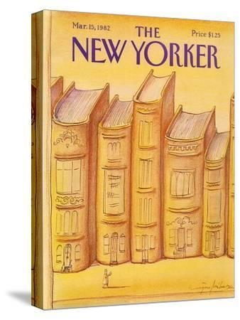 The New Yorker Cover - March 15, 1982-Eug?ne Mihaesco-Stretched Canvas Print