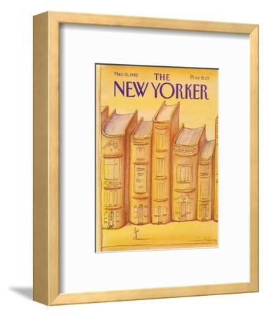 The New Yorker Cover - March 15, 1982-Eug?ne Mihaesco-Framed Premium Giclee Print