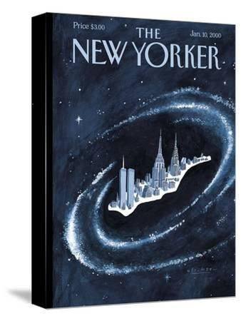 The New Yorker Cover - January 10, 2000-Mark Ulriksen-Stretched Canvas Print