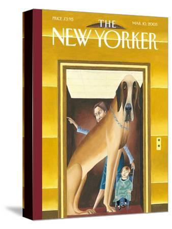 The New Yorker Cover - March 10, 2003-Mark Ulriksen-Stretched Canvas Print