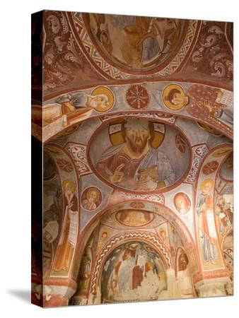 Murals on the Walls of a Church Carved into the Cliffs-Joe Petersburger-Stretched Canvas Print
