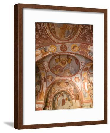 Murals on the Walls of a Church Carved into the Cliffs-Joe Petersburger-Framed Photographic Print