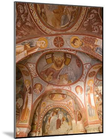 Murals on the Walls of a Church Carved into the Cliffs-Joe Petersburger-Mounted Photographic Print