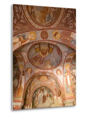 Murals on the Walls of a Church Carved into the Cliffs-Joe Petersburger-Metal Print