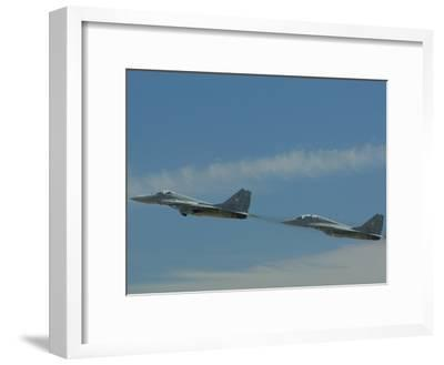Performance of the Hungarian Team at the Kecskemet Air Show-Joe Petersburger-Framed Photographic Print