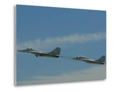 Performance of the Hungarian Team at the Kecskemet Air Show-Joe Petersburger-Metal Print