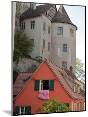 Castle in Town of Meersburg with Orange Home in Foreground-Greg-Mounted Photographic Print