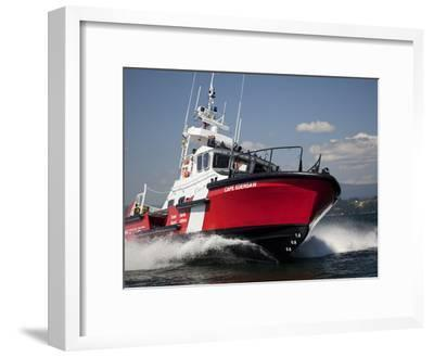 A 47-Ft Lifeboat of the Canadian Coast Guard Plies the Ocean Waters-Pete Ryan-Framed Photographic Print