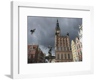 The Neptune Fountain in Gdansk's Main Thoroughfare, the Royal Way-Keenpress-Framed Photographic Print