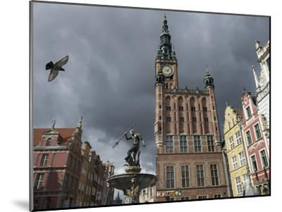 The Neptune Fountain in Gdansk's Main Thoroughfare, the Royal Way-Keenpress-Mounted Photographic Print