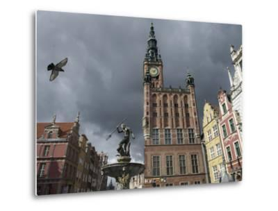 The Neptune Fountain in Gdansk's Main Thoroughfare, the Royal Way-Keenpress-Metal Print