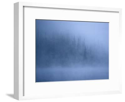 Morning Mist Rises Off a Lake in Algonquin Park in Central Ontario-Kenneth Ginn-Framed Photographic Print