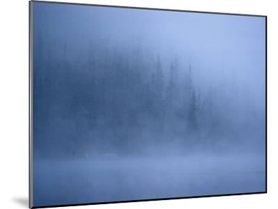 Morning Mist Rises Off a Lake in Algonquin Park in Central Ontario-Kenneth Ginn-Mounted Photographic Print