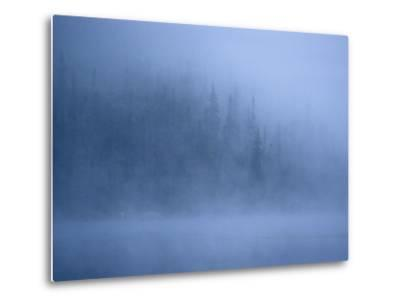 Morning Mist Rises Off a Lake in Algonquin Park in Central Ontario-Kenneth Ginn-Metal Print