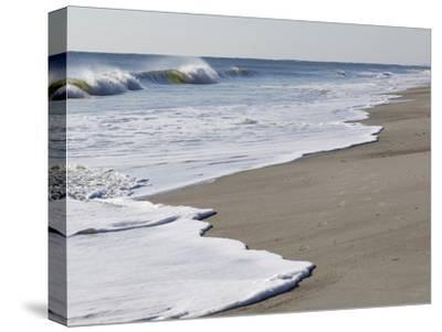 Spraying Surf Rolls Toward the Beach-Mauricio Handler-Stretched Canvas Print