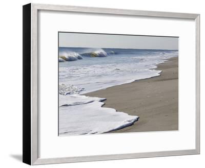 Spraying Surf Rolls Toward the Beach-Mauricio Handler-Framed Photographic Print