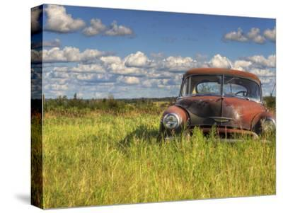 A 1950 Chevrolet Styleline Deluxe 4-Door Sedan Sits Idle in a Field-Pete Ryan-Stretched Canvas Print