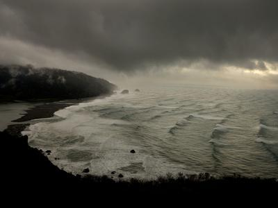 A Rare Snow Storm Approaches Del Norte Redwoods State Park-Michael Nichols-Framed Photographic Print