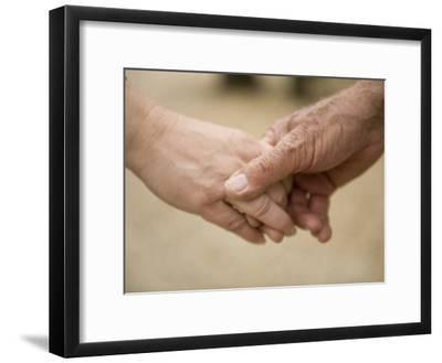 Close-Up of a Couple Holding Hands-Joel Sartore-Framed Photographic Print