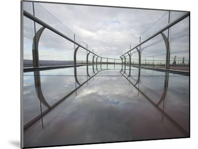 A View of the Skywalk over the Grand Canyon-John Burcham-Mounted Photographic Print
