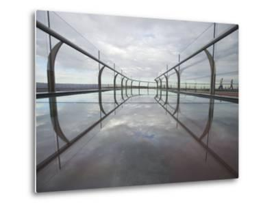 A View of the Skywalk over the Grand Canyon-John Burcham-Metal Print