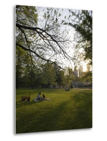 Late Afternoon in Piedmont Park in Midtown, Atlanta-Krista Rossow-Metal Print