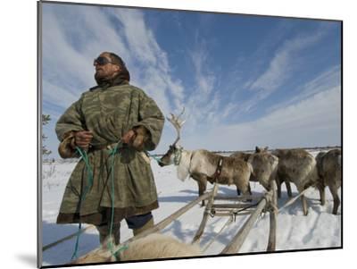 Reindeer Rest after Wallowing Through Deep, Wet Spring Snow-Gordon Wiltsie-Mounted Photographic Print