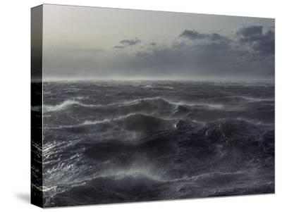 Windstorm over Ocean in Beagle Channel, Tierra Del Fuego, Argentina-Colin Monteath/Minden Pictures-Stretched Canvas Print