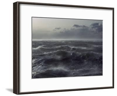 Windstorm over Ocean in Beagle Channel, Tierra Del Fuego, Argentina-Colin Monteath/Minden Pictures-Framed Photographic Print