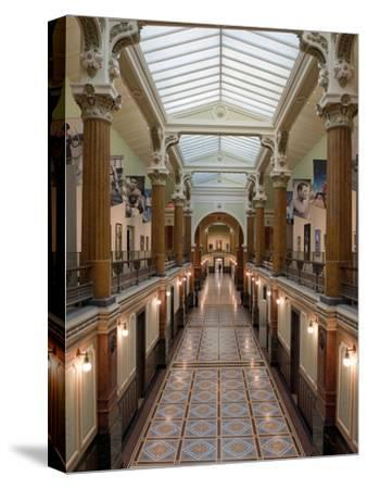 Ornate Interior and Tiled Floor at the National Gallery-Greg Dale-Stretched Canvas Print
