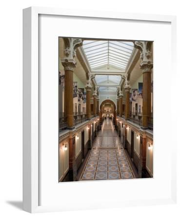 Ornate Interior and Tiled Floor at the National Gallery-Greg Dale-Framed Photographic Print