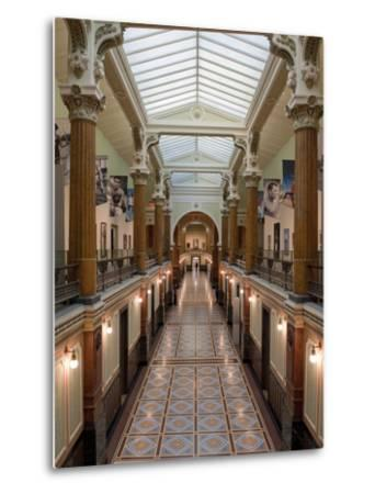 Ornate Interior and Tiled Floor at the National Gallery-Greg Dale-Metal Print