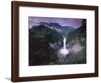 San Rafael or Coca Falls on the Quijos River, Amazon, Ecuador-Pete Oxford-Framed Photographic Print