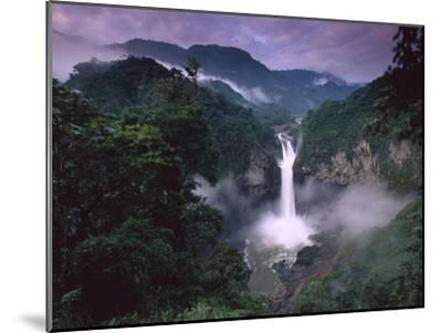 San Rafael or Coca Falls on the Quijos River, Amazon, Ecuador-Pete Oxford-Mounted Photographic Print