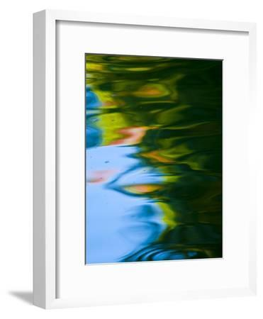 Soft Colors and Reflections in Gently Rippled Water-Brian Gordon Green-Framed Photographic Print