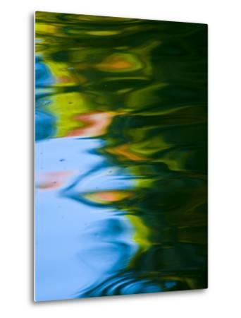 Soft Colors and Reflections in Gently Rippled Water-Brian Gordon Green-Metal Print