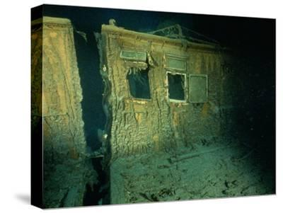 """Windows of the Officers' Quarters on the Starboard Side of the R.M.S. """"Titanic""""-Emory Kristof-Stretched Canvas Print"""