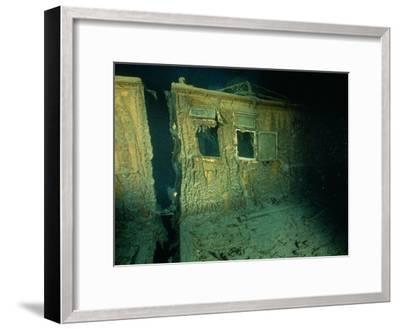 """Windows of the Officers' Quarters on the Starboard Side of the R.M.S. """"Titanic""""-Emory Kristof-Framed Photographic Print"""