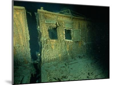 """Windows of the Officers' Quarters on the Starboard Side of the R.M.S. """"Titanic""""-Emory Kristof-Mounted Photographic Print"""