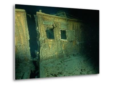 """Windows of the Officers' Quarters on the Starboard Side of the R.M.S. """"Titanic""""-Emory Kristof-Metal Print"""