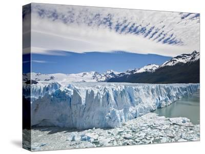 The Massive Perito Moreno Glacier Wall and Ice That Broke Off of It-Mike Theiss-Stretched Canvas Print