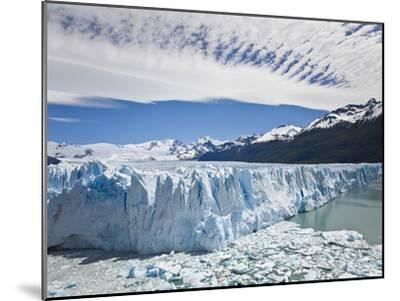 The Massive Perito Moreno Glacier Wall and Ice That Broke Off of It-Mike Theiss-Mounted Photographic Print