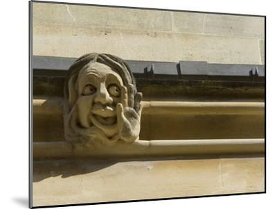 Sandstone Sculpture of a Funny Face, on the Wall of a Building-Joe Petersburger-Mounted Photographic Print