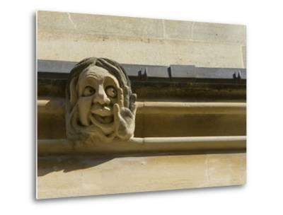 Sandstone Sculpture of a Funny Face, on the Wall of a Building-Joe Petersburger-Metal Print