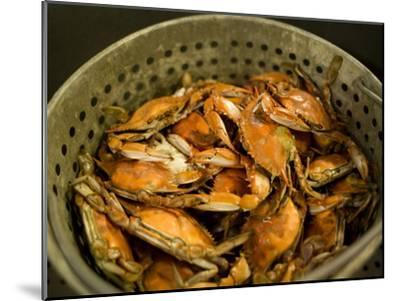 A Basket of Maryland Crabs-Aaron Huey-Mounted Photographic Print