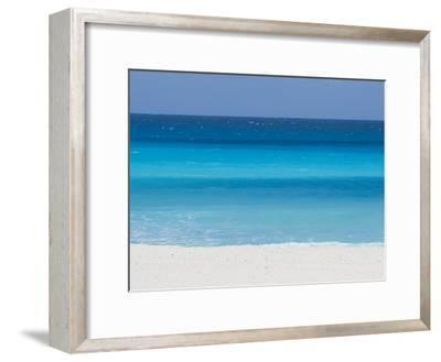 Shades of Blue Color the Beachfront Waters in Cancun, Mexico-Mike Theiss-Framed Photographic Print