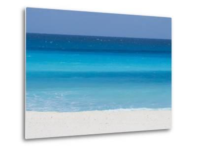 Shades of Blue Color the Beachfront Waters in Cancun, Mexico-Mike Theiss-Metal Print