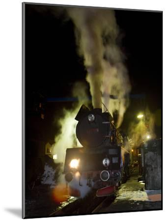 Polish State Railways Steam Locomotive after Bringing in Commuters-Kent Kobersteen-Mounted Photographic Print