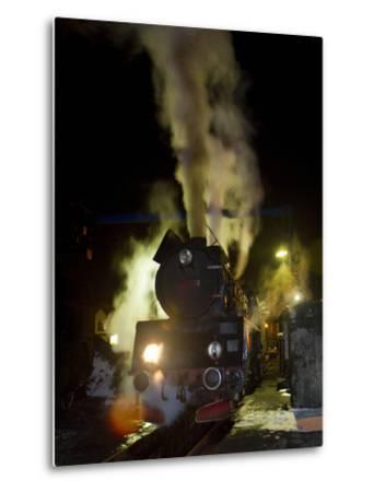 Polish State Railways Steam Locomotive after Bringing in Commuters-Kent Kobersteen-Metal Print