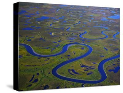 The Igushik River Snakes Through the Togiak National Wildlife Refuge-Michael Melford-Stretched Canvas Print